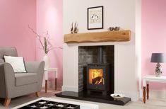 Log Burner Living Room, Fireplace Beam, Mantel Shelf, Beams, Stove, Shelves, Rustic, House, Home Decor