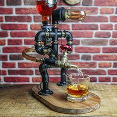 Whiskey Dispenser Liquor Gin Wine Alcohol mini Bar. | Etsy Jack Daniels, Liquor Dispenser, Light Fixtures Bathroom Vanity, Whiskey Gifts, Stainless Steel Pipe, Alcohol Gifts, Bar Gifts, Christmas Gifts For Husband, Diy Bar