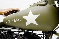 "style-cool-ture: Harley-Davidson WLA World War II "" Motorcycle Tank, Motorcycle Design, Harley Davidson Wla, Custom Motorcycle Paint Jobs, Super Bikes, Bobber, World War Ii, Hot Wheels, Cool Cars"