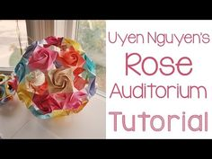 Origami Rose Auditorium Tutorial - YouTube