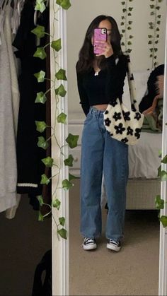 Indie Outfits, Teen Fashion Outfits, Retro Outfits, 90s Style Outfits, Black Outfits, Skirt Outfits, Swaggy Outfits, Cute Casual Outfits, Stylish Outfits