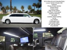 40-inch extended body Luxury Chrysler 300 for sale #americanlimosales #limoforsale #Maybach #luxurycars