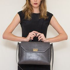 Croc Embossed City Tote Medium #bag #janisleenewyork #madeinny #nyc #design #designer #handbag #handmade #madeinnyc #fashion #style