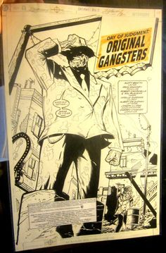 Batman:  Dean Zachary Sal Buscema ORIGINAL COMIC ART Splash Page Orig Gangsters