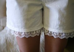 Lace Shorts | Honestly WTF These are made with men's boxer shorts! If you're not…