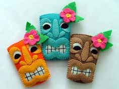 Tiki Rockabilly Hair Clips by TheDollCityRocker on Etsy, $15.00-These are so cute and fun!