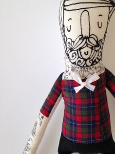 Mi+Little+Hipster-Boyfriend-Handmade+Art+por+BlueRaspberryDesigns