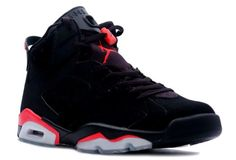Air Jordan 6 Retro Shoes Black Infared