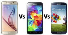 Galaxy S6 v S5 V S4