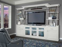 Upgrade your entertainment area with the Parker House Skyline Entertainment Center . This powerhouse entertainment center includes cabinet bases,. Entertainment Wall Units, Entertainment Center Kitchen, Online Furniture Stores, Furniture Companies, Parker House, House Viewing, White Furniture, House Furniture, Bars For Home