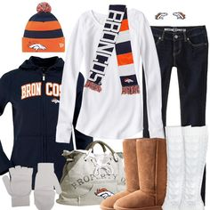 Game Day outfit minus a few pieces.