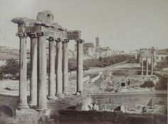 Rome, View of the Forum Romanum 1853 (ca) Salt print, coated
