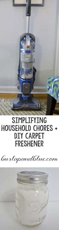 Simplifying household chores with @hoover + an easy DIY carpet freshener recipe! #NoCordNoBull #CleverGirls