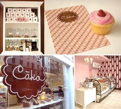 Cako Bakery and Catering by Kimberley Bates, via Behance It is interesting to see the different styles of bakeries, they vary so much!