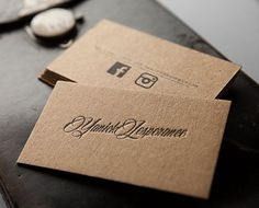 Image result for brown card business cards