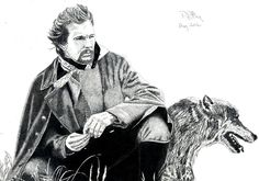 Pen & Ink Drawing, A4 - Dances with Wolves by PetesPiccies on Etsy