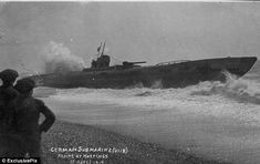 Killing machine: The U-118, a type two boat built in the Vulcan shipyard in Hamburg and launched in 1918, was surrendered in 1919 and went aground off Sussex coast.