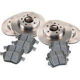 Cheap 2009 - 2010 SUBARU Impreza WRX Front and Rear Brake Pads and Brake Rotors…