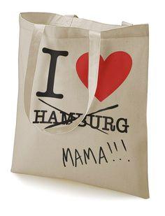 "Stoffbeutel ""I love Mama!"" HAMBURG von MAD IN BERLIN auf DaWanda.com"