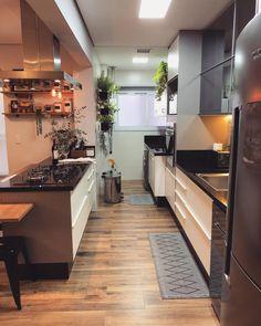 Small Apartment Kitchen, Small Apartment Design, Small Apartments, Dream House Exterior, Small House Plans, Modern Kitchen Design, Cozy House, Home Kitchens, Kitchen Decor