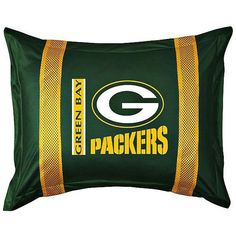NFL Green Bay Packers Sidelines Pillow Sham ($29) ❤ Liked On Polyvore  Featuring Home, Bed U0026 Bath, Bedding, Bed Accessories, Home Textiles, Yellow  Bedding, ...