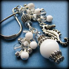 Handmade Keychains | Handmade Beaded Keychain Sea Treasures by BrossARTaddiction ...