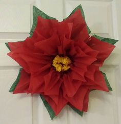 1x large 43cm poinsettia red tissue paper flowerpom pomwedding check out this item in my etsy shop httpsetsy mightylinksfo