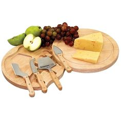 Picnic Time Circo 5-pc. Cheese Board Set ($25) ❤ liked on Polyvore featuring home, kitchen & dining, food, cibo, decor and kitchen