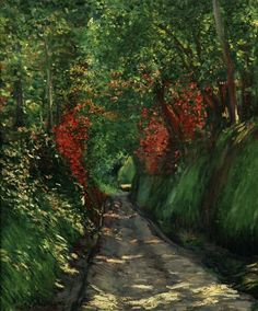 Forest Path - Gustave Caillebotte  Impressionism