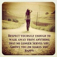 Self respect!