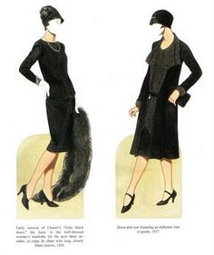 Chanel paper dolls- Flapper/20's LBDs :)