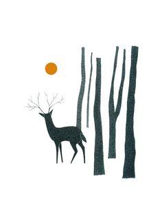 Original Drawing Original Art Pen And Ink Illustration Deer Forest Trees Detailed Artwork Stylised Deer Illustration, Ink Illustrations, Hirsch Illustration, Deer Drawing, Painting & Drawing, Ink Pen Drawings, Animal Drawings, Drawing Animals, Art Scandinave