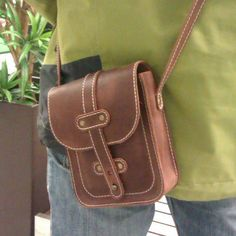 Leather small bag Small bag leather Brown leather bag