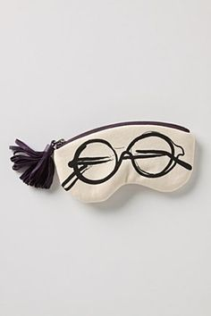 Ink-Sketched Glasses Pouch