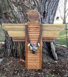 How to make an adorable garden angel from an old shutter