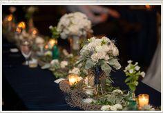 Selby  Gardens head table. Navy wedding