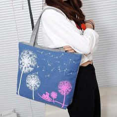 Dandalion Canvas Bag  Check these Bags at   >> https://www.itemsforwomen.com/collections/bags