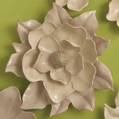 IMAX Isabella Large Ceramic Wall Decor Flower | Wayfair