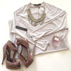 Calvin Klein Long Sleeve Gray Dress
