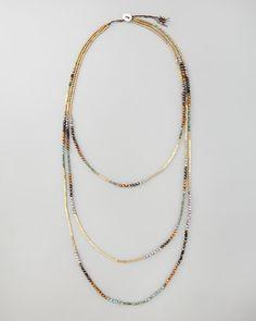 Nakamol Triple-Strand Beaded Necklace -