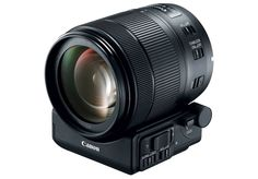 Canon's new EF-S 18-135-mm F3.5-F5.6 IS USM kit lens. This is the first from Canon to feature Nano USM, a new type of focusing motor which combines the benefits of an ultrasonic motor for high-speed AF when shooting stills, and a lead-screw type stepping motor for smooth and quiet movie AF.  The new lens can also be used with the upcoming Power Zoom Adapter PZ-E1, a detachable device which provides smooth zooms at the touch of a button rather than a spin on the ring.