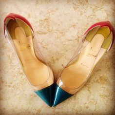 Christian Louboutin Debout Clear Colorblock Pumps #louboutin #colorblock #pumps http://www.shoeaholicsanonymous.com/christian-louboutin-debout-colorblock-pumps/