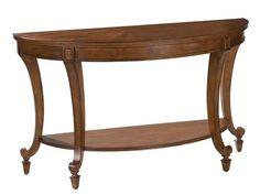 Aidan Traditional Cinnamon Wood Demilune Sofa Table
