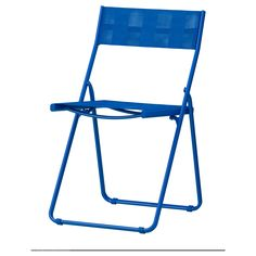 HÄRÖ Folding chair, blue $14.99 Easy to fold up and put away. The materials in this outdoor furniture require no maintenance.