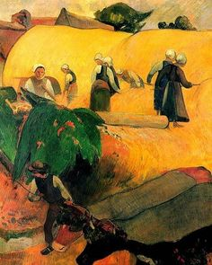 loveisyouressence: Paul Gauguin (1848-1903) - Harvest in Brittany