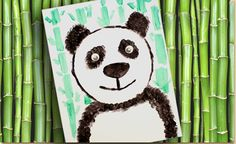 Children, as young as preschool age, will learn a simple way to draw a panda design and brush techniques to create fur.