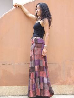 Patchwork Skirt ....Long Skirt ....Full Length Skirt by Ablaa