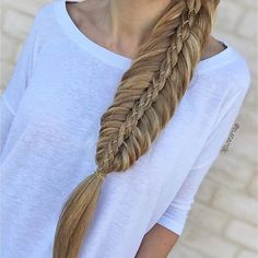 Stacked style - Fishtail ➕ 4 Strand Braid with a custom chain
