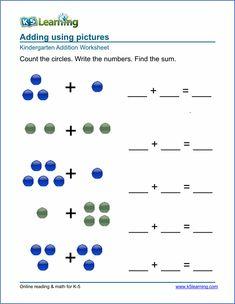 math worksheet : printable kindergarten math worksheets domino addition 3  : Toddler Math Worksheets