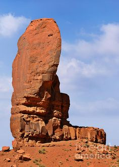 'Monument Valley - The Thumb' Photograph by Christine Till - 'Fine Art Prints and Posters for Sale at http://christine-till.artistwebsites.com/featured/monument-valley-the-thumb-christine-till.html
